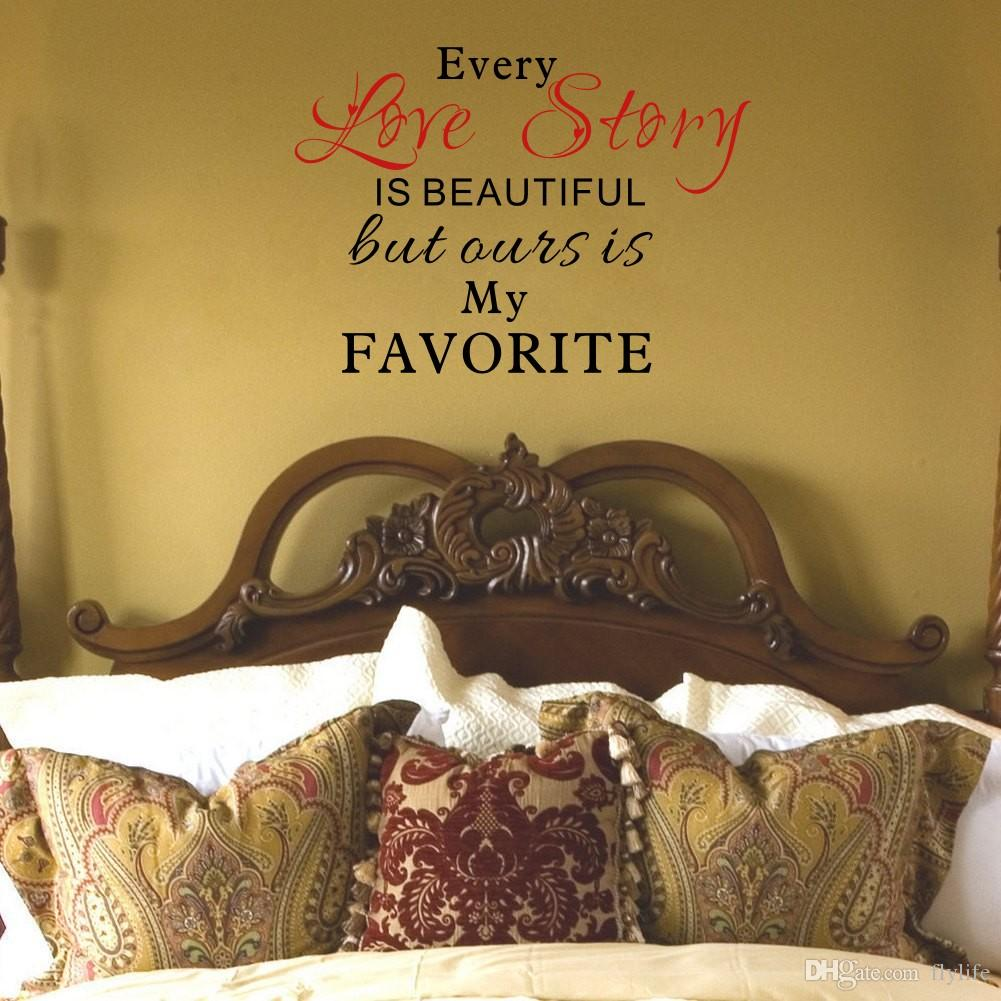 Our Love Story Is My Favorite Quotes Vinyl Wall Decals Stickers Art ...