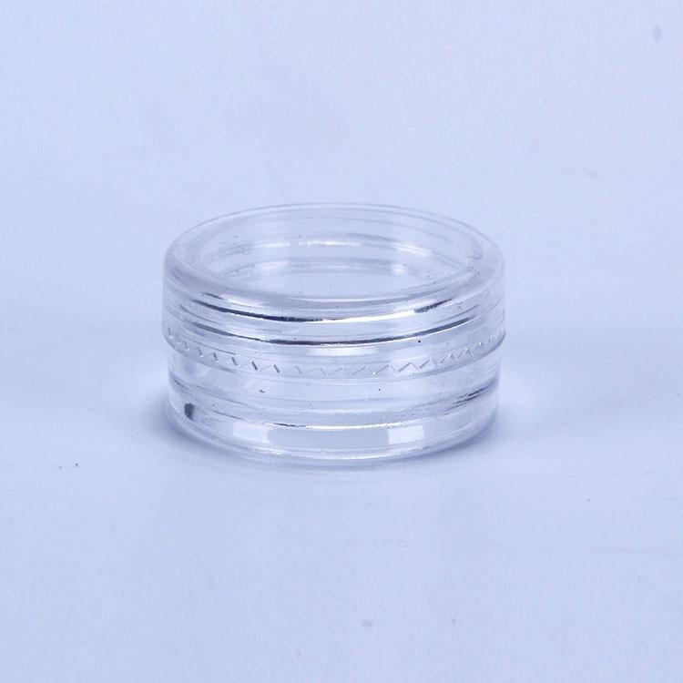 2ML en plastique transparent Jars vide Pot clair Couvercle 2gram Taille pour cosmétiques Crème Contour des Yeux Ombre ongles poudre Bijoux E-liquide