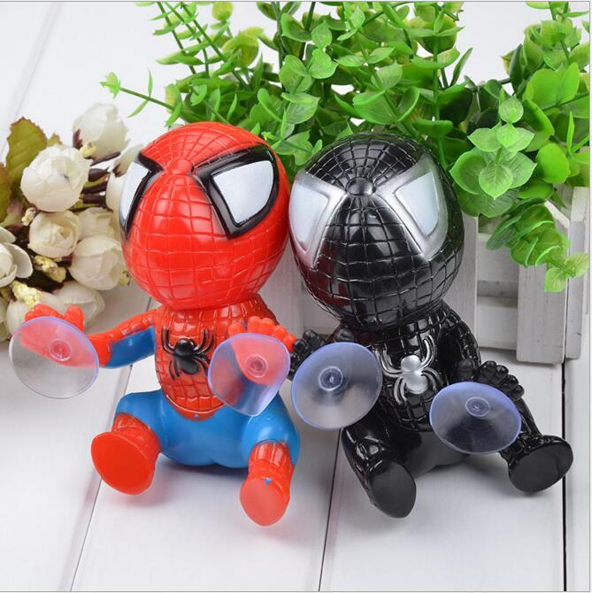 16CM Spider Man Toys Arrampicata Spiderman Window Sucker per Spider-Man Doll Car Home Interior Decoration 2 Color