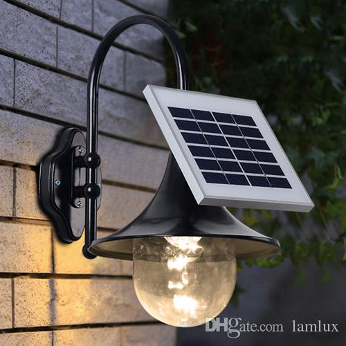 2018 solar power led wall lamps outdoor wall lighting high bright 2018 solar power led wall lamps outdoor wall lighting high bright led garden lights walll lamp warm white cool white color sensor functions from lamlux mozeypictures Images