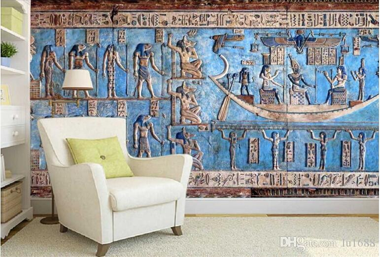 Customization Backgrounds 3d Wallpaper For Walls 3d Wallpaper Murals  Moisture Proof For Living Room Ancient Egyptian Celebration Color 3d  Wallpaper 3d ... Part 60