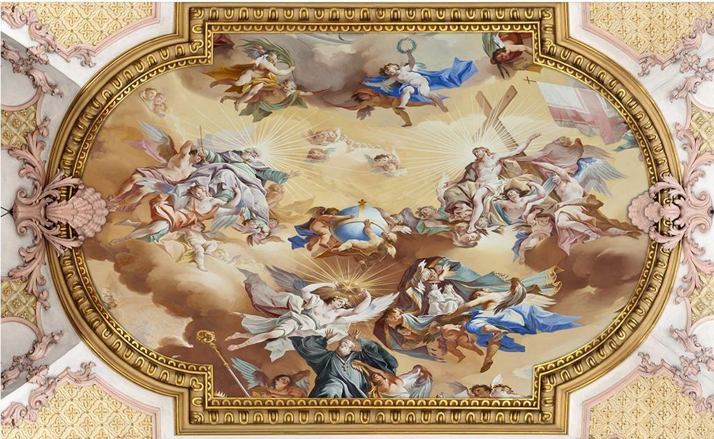 пользовательские потолок 3D обои европейской живописи 3D потолок фрески обои гостиной спальня потолок обои