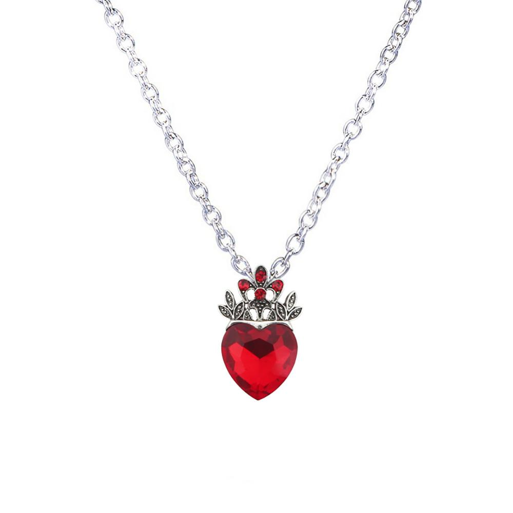 Wholesale wholesale christmas evie necklace descendants red heart wholesale wholesale christmas evie necklace descendants red heart crown necklace queen of hearts costume fan jewelry pre teen gift for her gold circle aloadofball Images
