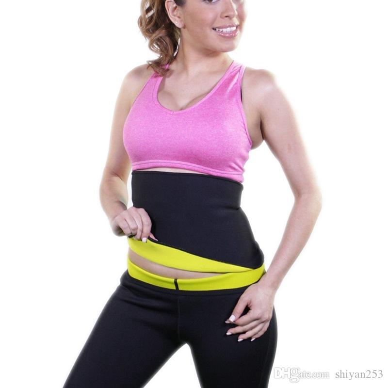 Súper estiramiento Mujeres Hot Neopreno Body Shaper Set Sauna Adelgaza Abdomen Belly Belt Control Chaleco Cinturón de cintura y pantalón en