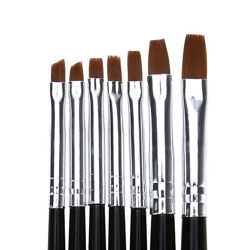 Wholesale Nail Art Flat Top Painting Brush Set Acrylic Gel Polish ...