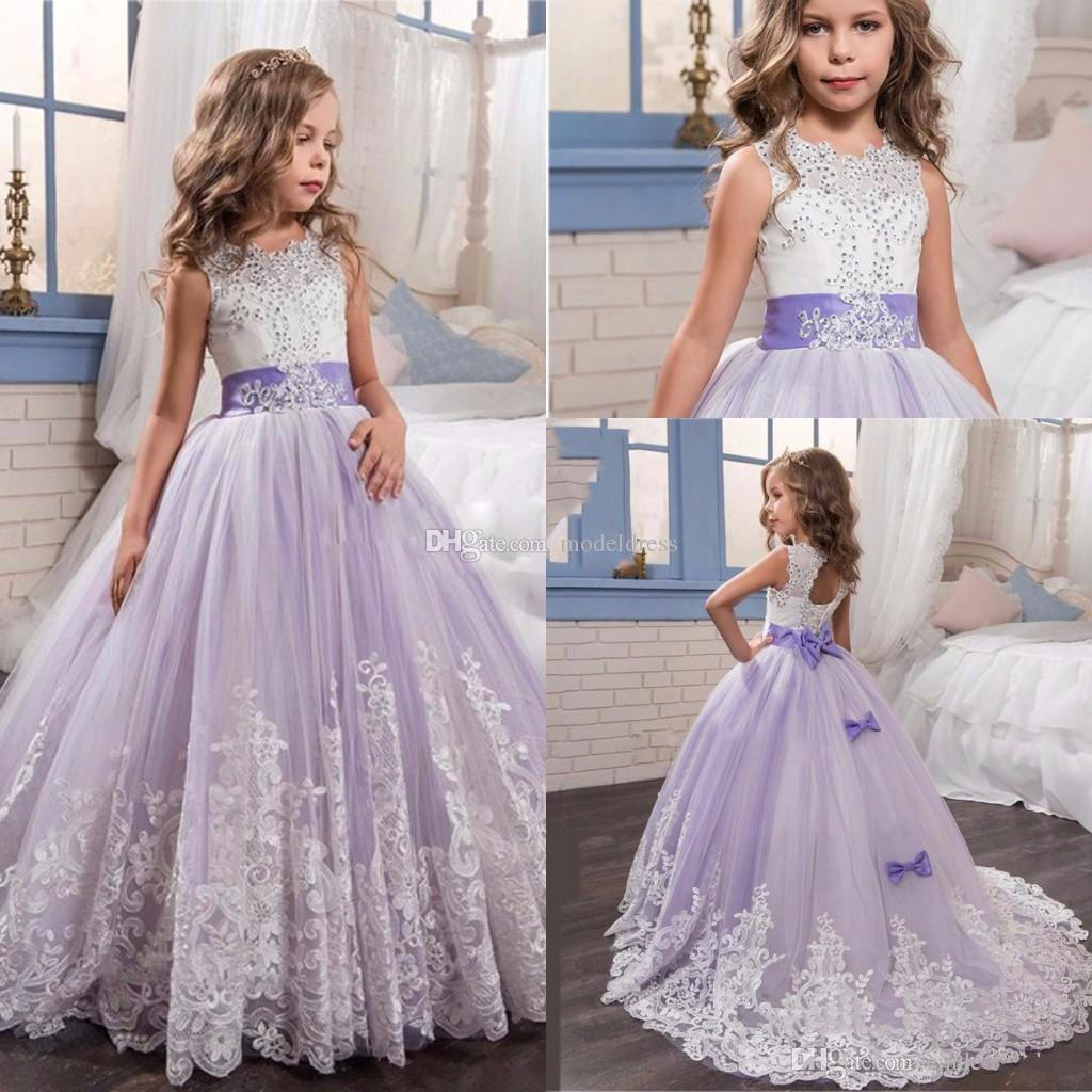 2017 new lilac princess flower girl dresses for weddings jewel 2017 new lilac princess flower girl dresses for weddings jewel appliques beads long modest first communion dress girls pageant gowns cheap flower girl izmirmasajfo Images
