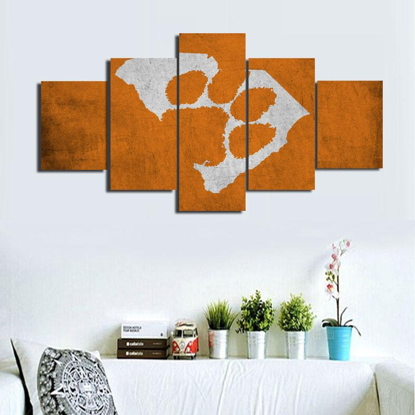 Clemson Tigers ,Home Decor HD Printed Modern Art Painting on Canvas ...