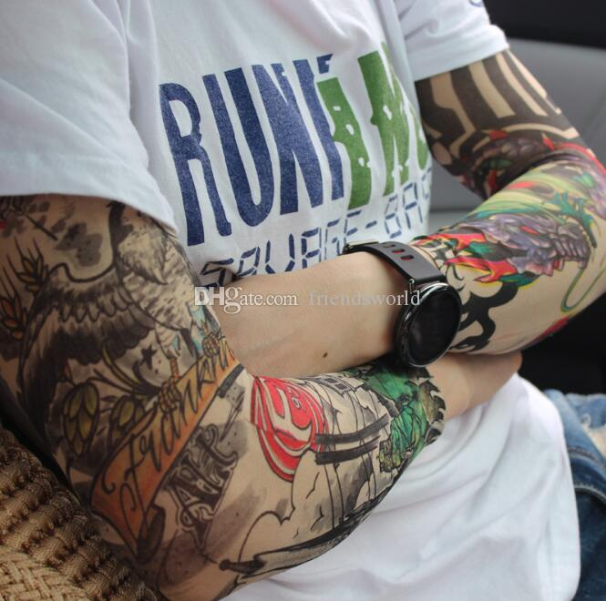 New Tattoo Sleeves Mixed Styles Arm Wearmers Cycling Protective Cool