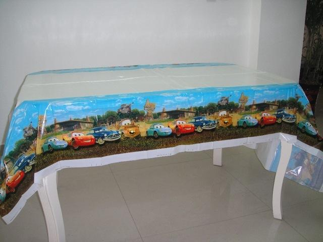 wholesale 18108m the car theme pe table cloth for kids happy birthday party decoration tablecover event party supplies extra long tablecloths party table