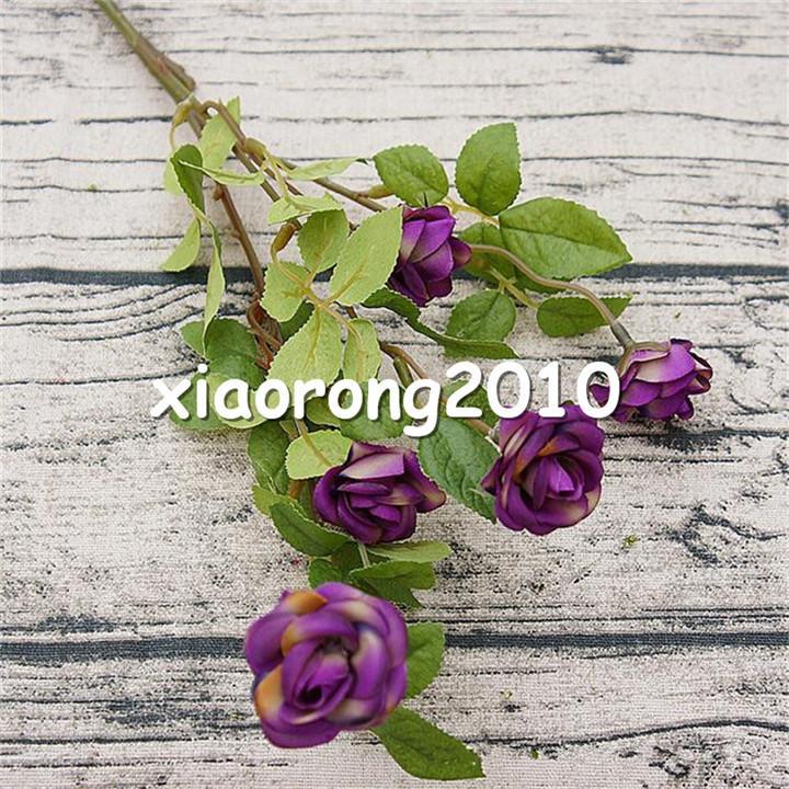 Faux Européen Simple Tige Mini Rose 55cm / 21.65
