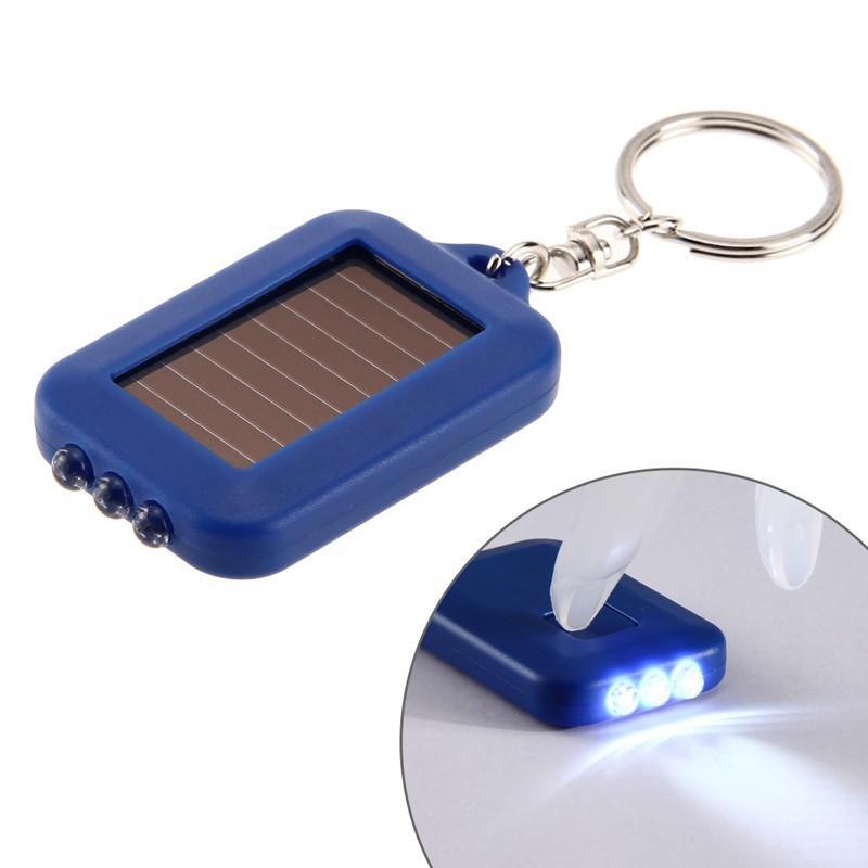 Mini luz solar Linterna ABS 3 Leds Panel solar Energía solar Energía para acampar Luz Llavero portátil Senderismo Lámpara recargable del proyector