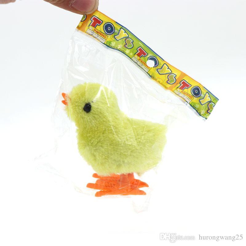 Kind-Kind-Baby-Gelb-Fuzzy-Huhn Gehen Küken pädagogisches lustiges Spielzeug-Wind-Up Für Ostern Developmental Babyspielzeug
