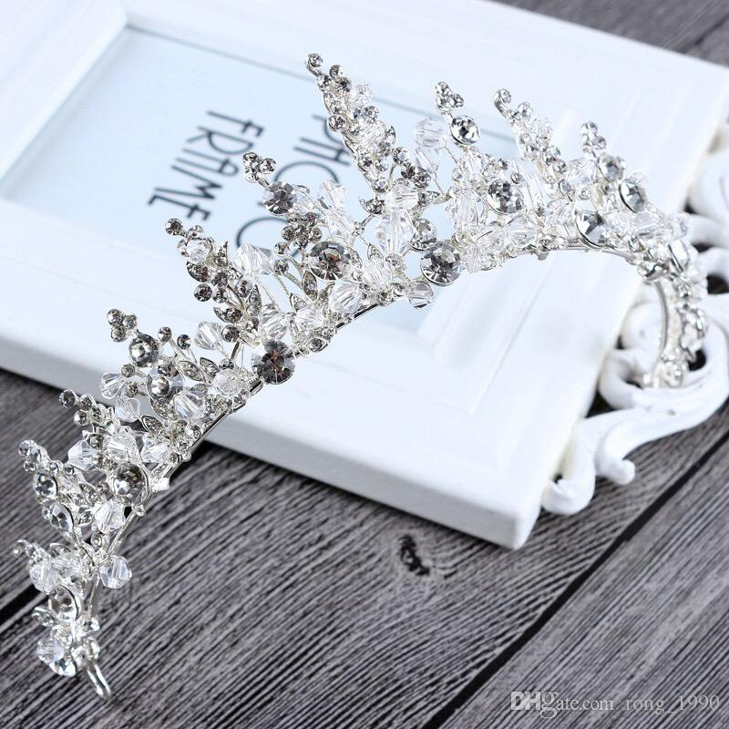 2017 Wedding Bridal Crown Elegant Silver Hair Accessories Baroque Princess Vintage Crystal Shiny Rhinestone Headwear Handmade Factory Sale Bridal Hair Hair Pieces From Rong_1990, $19.1| DHgate.Com