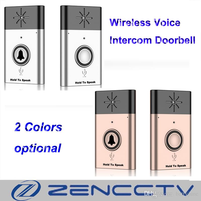Online Cheap Wireless Voice Intercom Doorbell Chime Door Bell Remote  Control Door Bell Indoor And Outdoor Bell Gold And Silver Option By  Bettyjune | Dhgate.