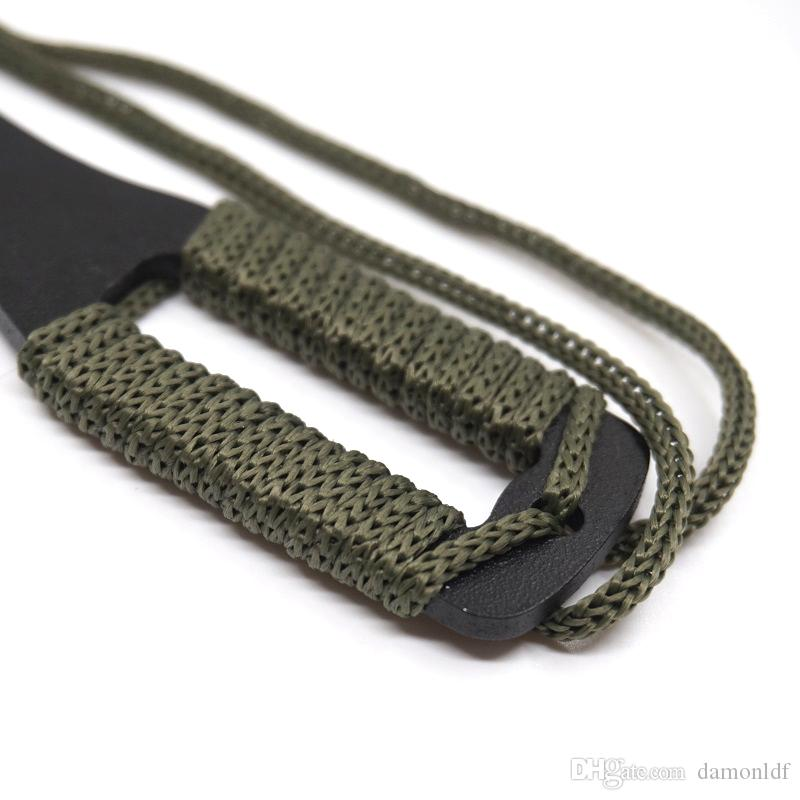 Neck Knife Gear KEY-D Fixed Blade Full Tang Hunting Knife Half Sawtooth 3CR13 Tactical Survival Knives Outdoor Camping Pocket EDC Tools