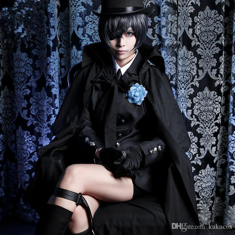 Kukucos Anime Black Butler Ciel Phantomhive Black Suit Set ...