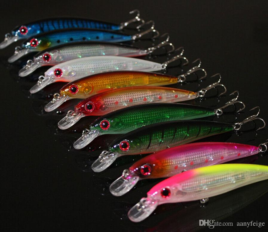Floating Minnow Fishing Lure Laser Hard Artificial Bait 3D Eyes 11CM 13G Fish Fishing Wobblers Crankbait Minnows