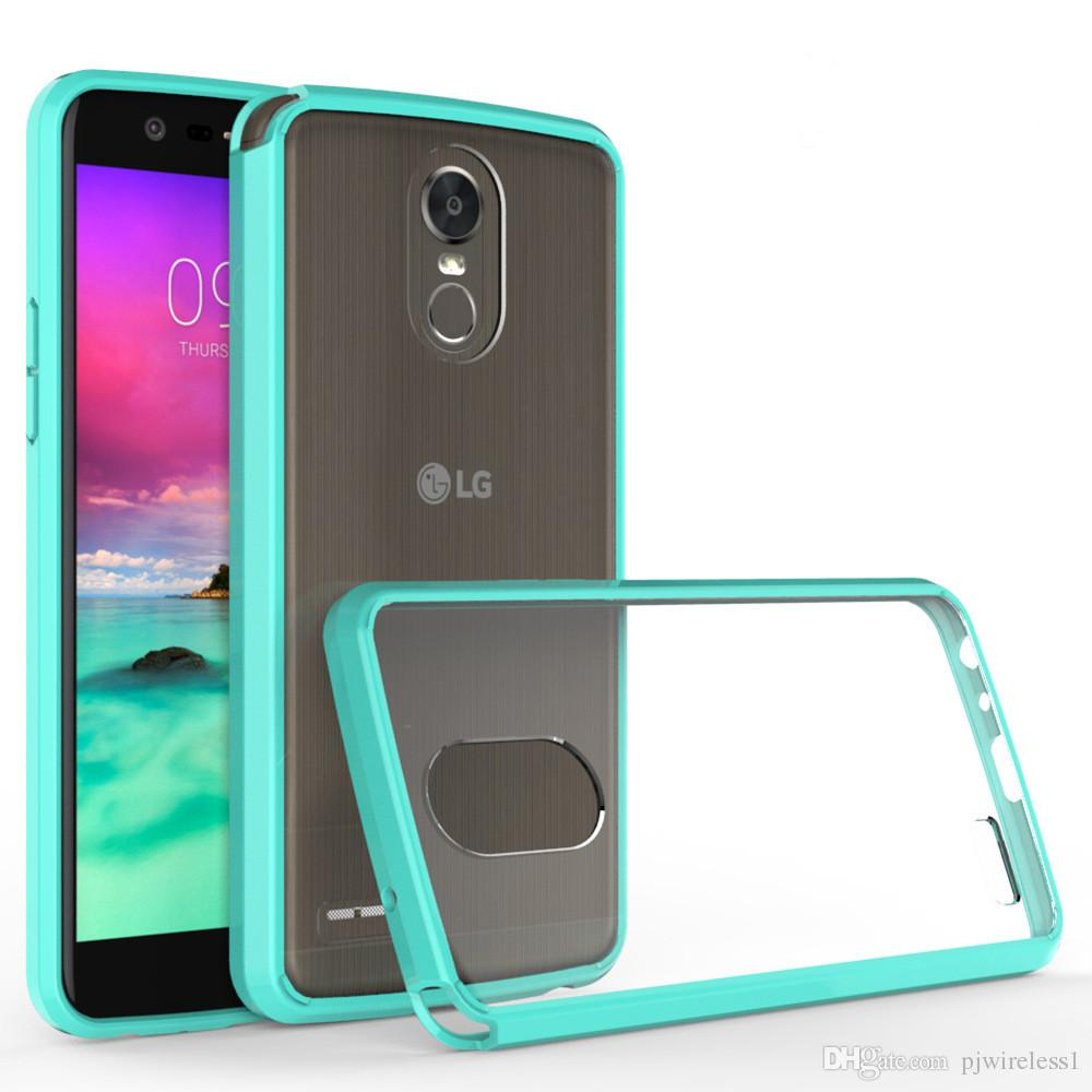 lg stylo 3 plus case. cool for lg stylo 3 2017 stylus plus metropcs armor case transparent clear hybrid bumper shockproof back cover accessories free cell phone cases leather r