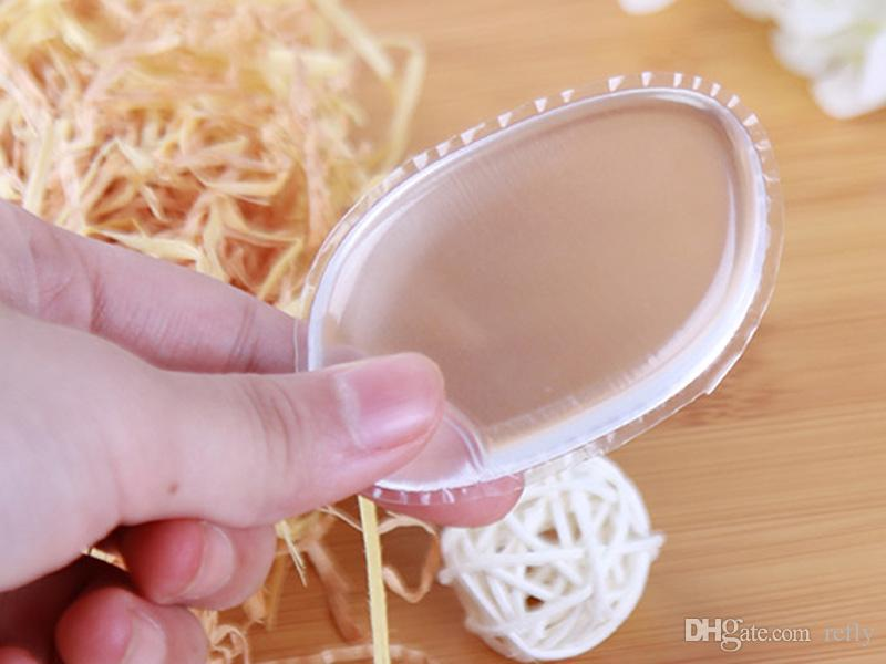 Limpar Puff Puff Silicone Transparente Rosto Fundação Ferramenta Esponja Liquidificador Sopro De Pó De Silicone BB creme fundação ferramentas de maquiagem