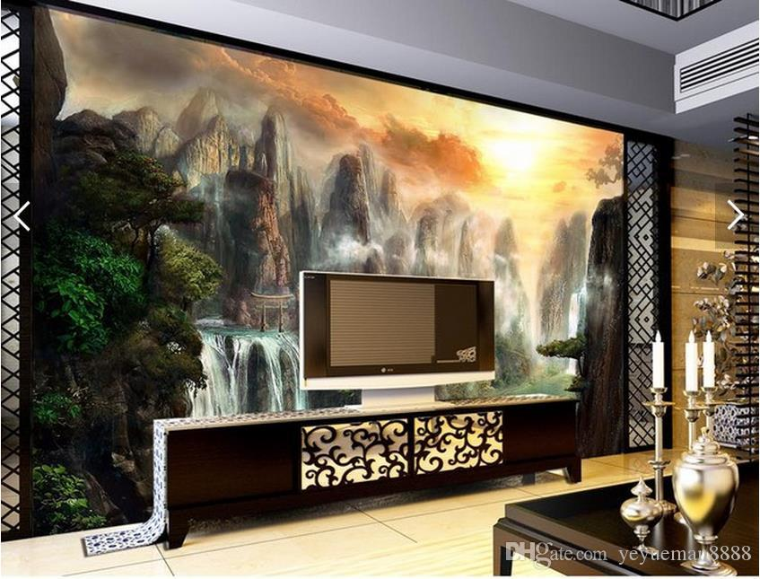 3d Wall Murals Customized Living Room Wallpaper Impressive Chinese ...