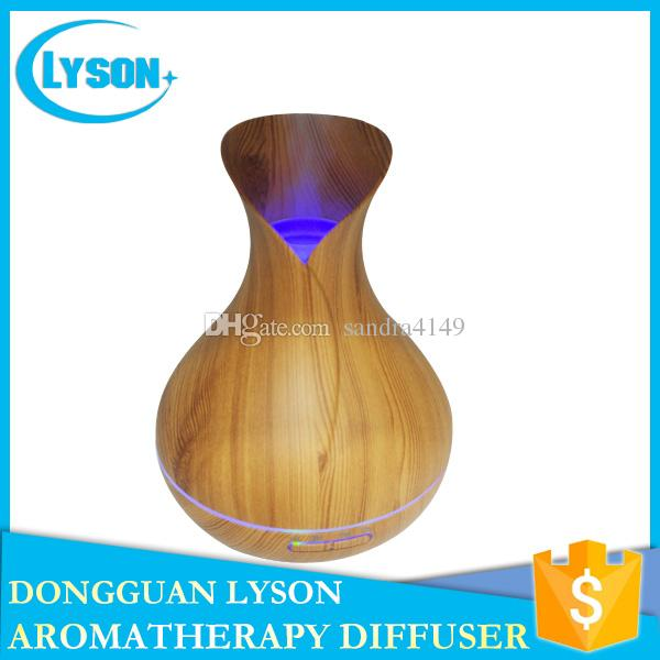 Bedroom Quiet 300ml Capacity Ultrasonic Essential Oil Aromatherapy Diffuser Cool Mist Wood Grain Aroma Humidifier Diffuser