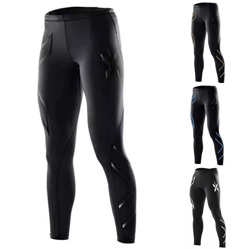 ab4ee952b16ea Wholesale-Men Compression Fitness Tights Male Pants Superelastic Stretch  Pants Breathable Trousers Sport Pot Sport Talk Sports Linen Online with ...