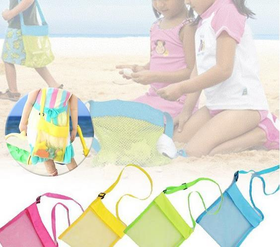 Красочные Портативные Дети Песок Прочь Сетка Пляжная Сумка Оболочки Песочница Игрушки Для Хранения