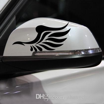 1 paar Autos Exterior Zubehör Auto Aufkleber 12 cm * 6 cm Flügel Auto Rückspiegel Aufkleber Auto Rückspiegel Pasters