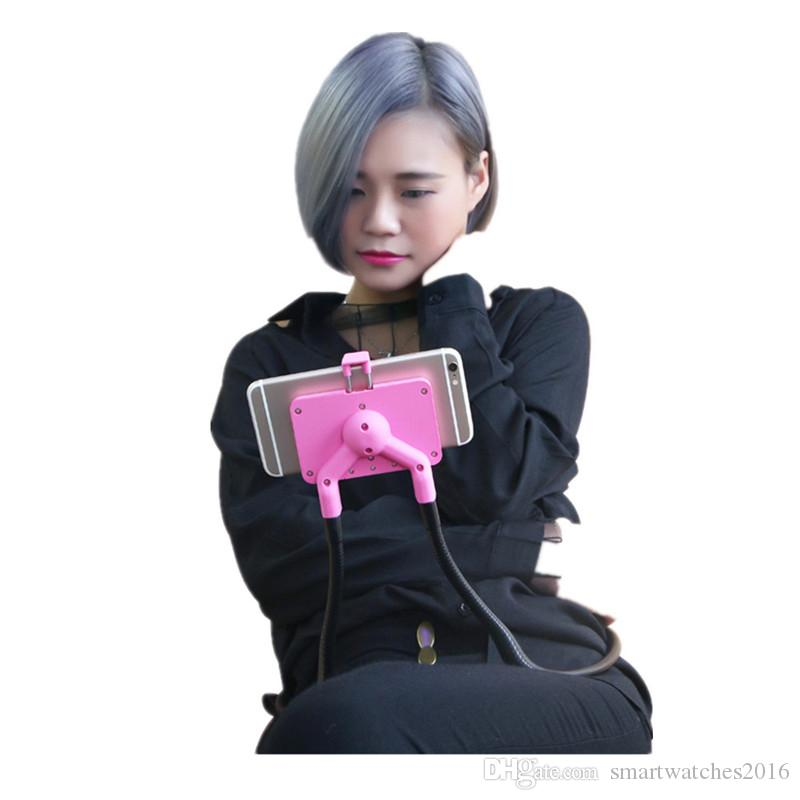 Cell Phone Holder, 360 Degree Rotation Flexible Long Arms Mobile Phone Holder Desktop Bed Car Lazy Bracket Mobile Stand Support All Mobiles