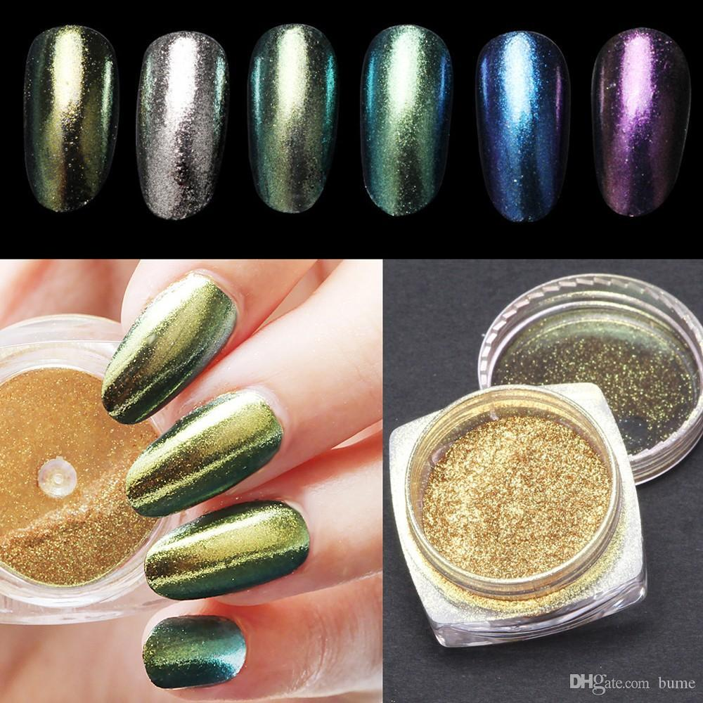 Wholesale New 2g/Box Shinning Magic Mirror Powder Nail Art Tip ...