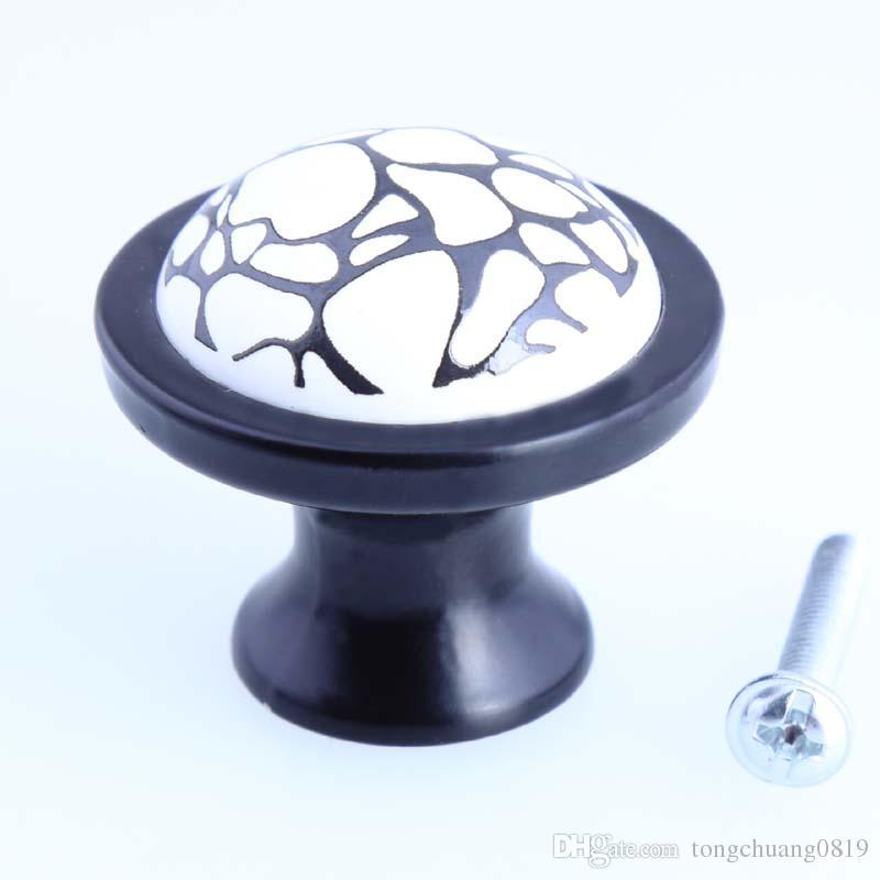Schuhschrank Einfache Schwarze Knöpfe Keramik Tv Riss Weiße Knopf Türgriff Kommode Zieht Schrank Schublade Moderne Schwarz Weiß wPkXilOZuT