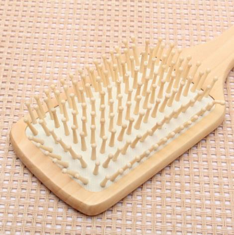 Makijaż 2 kolory pielęgnacja włosów drewniane spa masaż grzebień drewniany wiosło spiczasty uchwyt zęby szczoteczka do włosów antystatyczne poduszki grzebień