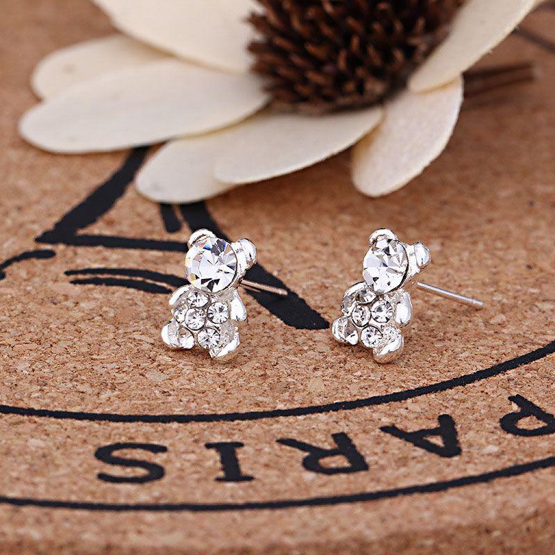 925 Silver SIMPLE ELEGANT STUD EARRINGS BUTTERFLY LADIES WOMENS
