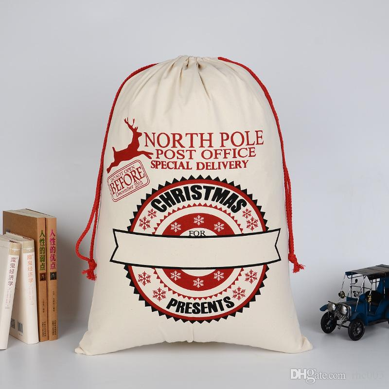 Christmas Bags In Bulk.Wholesale Christmas Gift Bags In Bulk Red Cotton Christmas Santa Drawstring Shopping Christmas Bags With Letter Eco Friendly Bags Reusable Lunch Bags