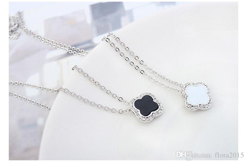 New arrival famous brands jewelry for women classical design four leaf clover necklace with genuine Austrian crystal