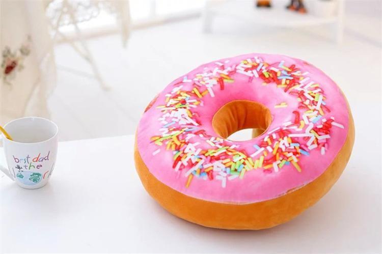 Xmas Christmas Gift doughnut Hamburger Cushion Emoji pillows lovely Cute plush toys doughnut Cushion for girl best present !