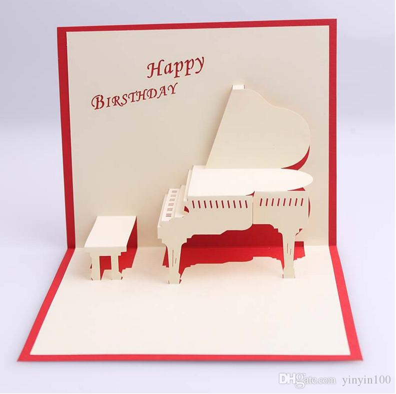 Piano birthday greeting cards 3d laser cut happy birthday greeting piano birthday greeting cards 3d laser cut happy birthday greeting cards piano greeting gift card postcards handmade custom gift send a gift card via email m4hsunfo