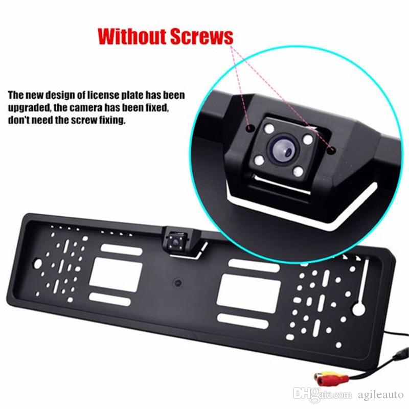 Waterproof High-definition and 170 degree 4 LEDs Europe License Plate Frame with Car Rear View Camera CAL_043