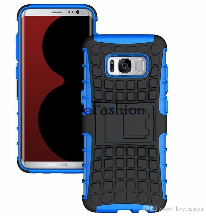 Antiurto 2 in 1 robot ibrido Spider Armor Case Samsung S8 Plus Tire TPU Holder Kickstand Cover Phone Back Shell iPhone 7 6s plus