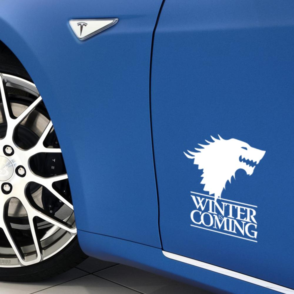Winter Is Coming Wolf Game Of Thrones Car Styling Decorative Head Of Wolf Car Stickers Vinyl Decals JDM