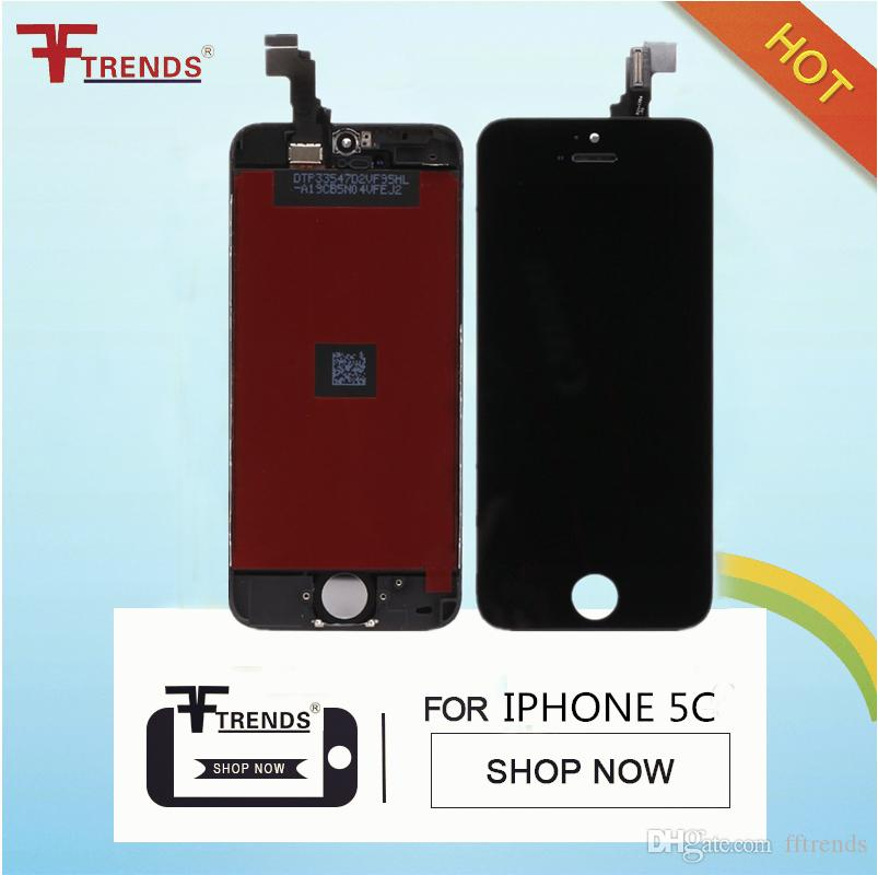 for iPhone 5 5S SE 5C LCD Display & Touch Screen Digitizer Full Assembly LCD Black White Screens 100% Test Free Shipping