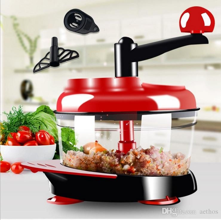 2018 Manual Food Processor, Hand Powered Miracle Chopper Baby Multi  Vegetable Chopper Meat Grinder Fast Salsa Maker Food Mixer Blender To Chop  Me From ...