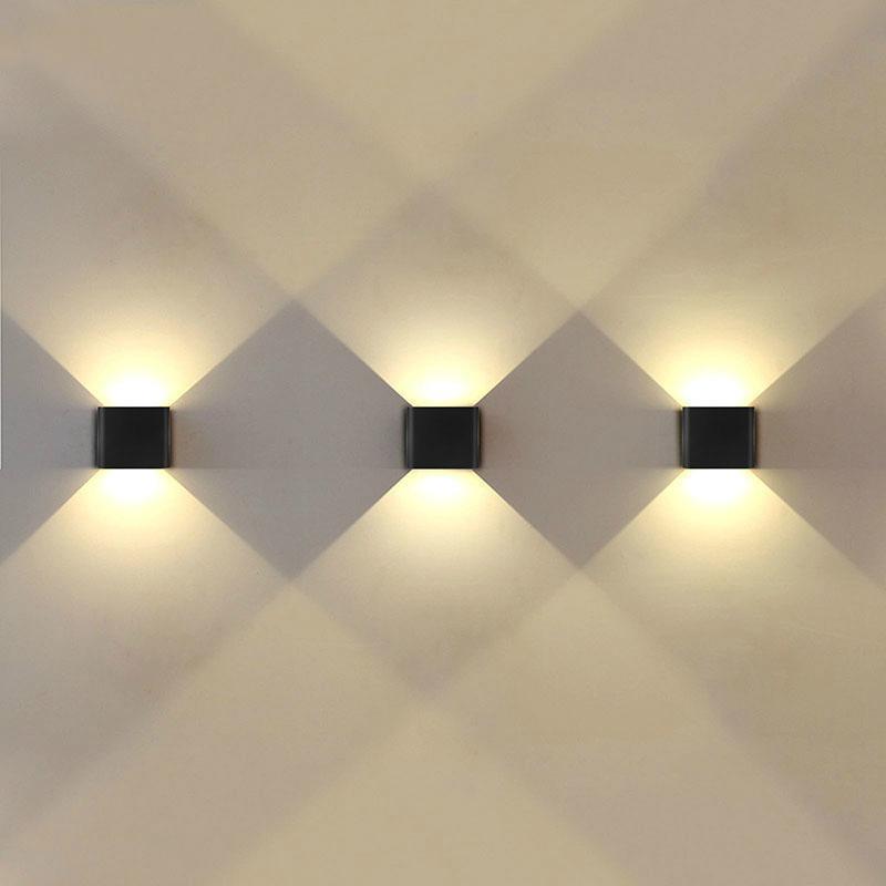 Moderne Ip65 Wasserdichte Led-wandleuchte Up Unten Beleuchtung Lampe Aluminium Garten Villa Veranda Leuchten Wandleuchte 85 ~ 260 V Led-lampen