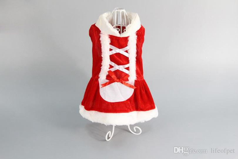New Puppy Dog Clothes Santa Costume Christmas Pet Clothes Hoodie Coat Clothing for Dog Chihuahua Yorkshire Clothes