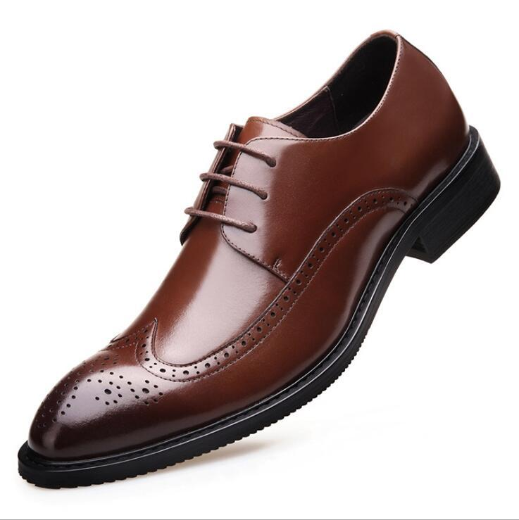 c91bb94f901 2017 Italian Stylish Mens Wedding Shoes Black Brogue Genuine Leather Party  Casual Business Formal Dress Brown Shoes Cheap Shoes Dansko Shoes From  Walonshoe