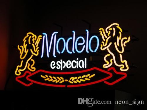 2020 Modelo Especial Double Lions Neon Sign Custom