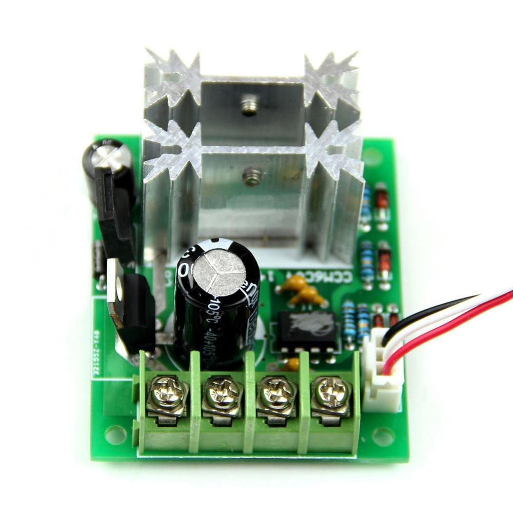 Wholesale-PWM DC 6V/12/24V 10A Pulse Width Modulator Motor Speed Control Switch Hot Vl