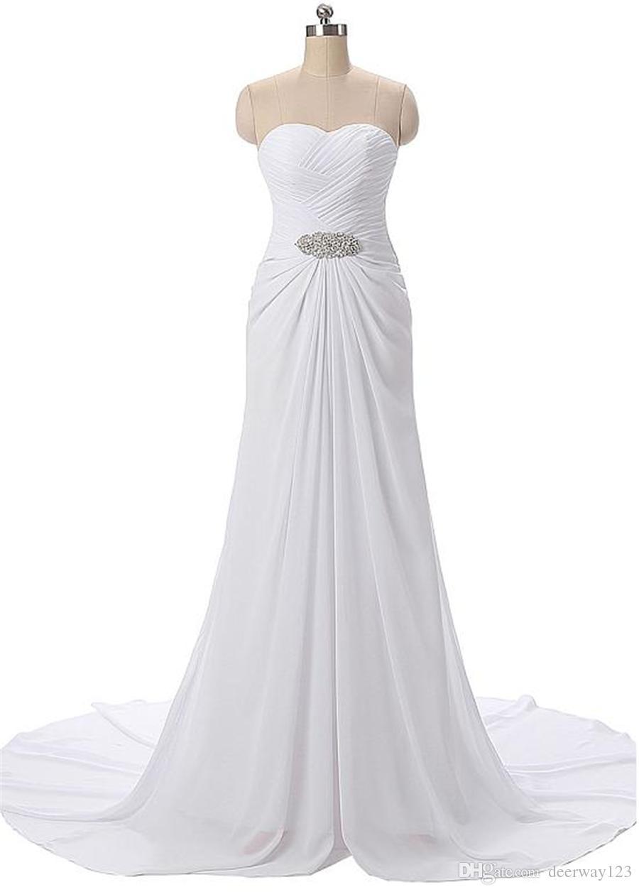 Dantelli Akan Şifon Sevgiliye Boyun Çizgisi A-line Abiye Boncuk Bel Ile Beyaz Balo Elbise vestidos de formatura curto