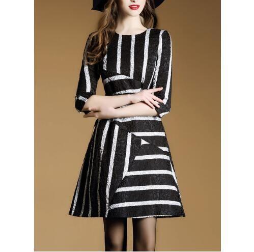 Brand 2017 Women Plus Size Casual Summer Simple Patchwork Dress High ... 6141738eeb2e