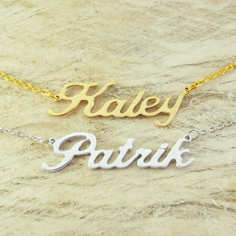 wholesale custom alloy necklace name necklace special gift for your